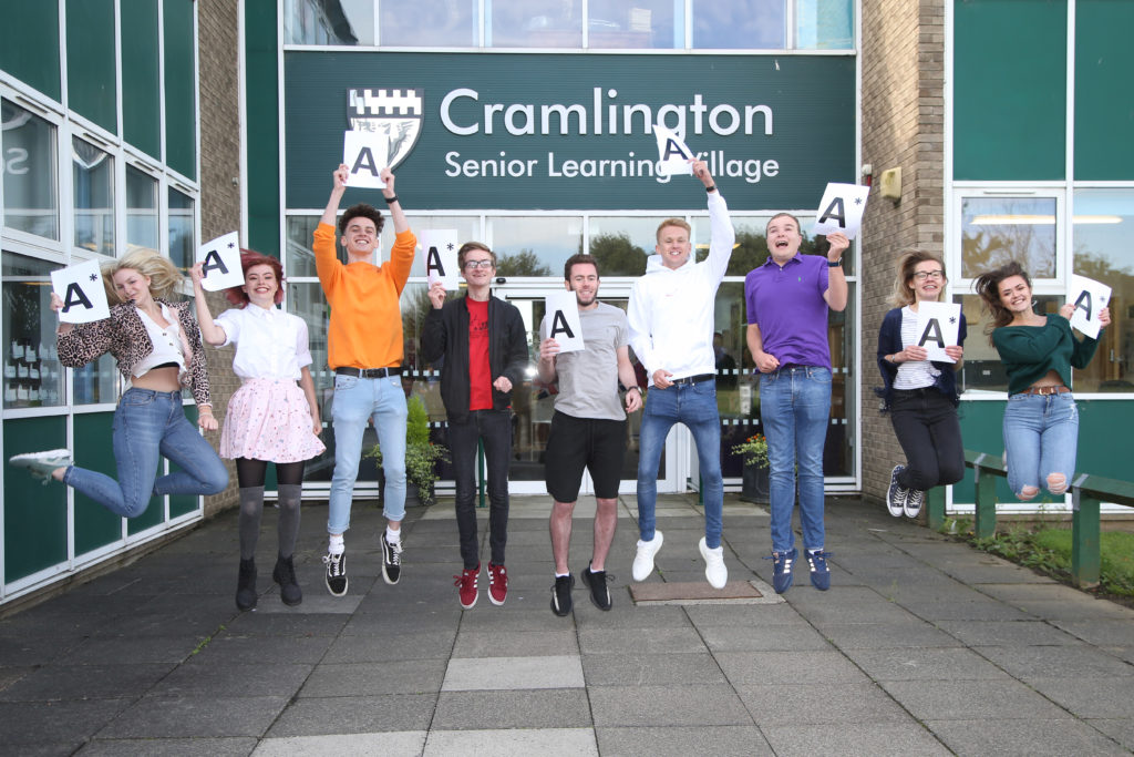 triumphant-students-at-cramlington-learning-village