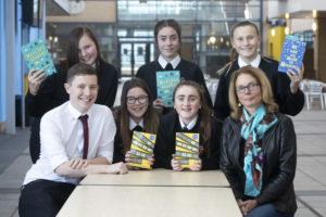 Will Mays, Cramlington Learning Village students and author Susan Nielsen