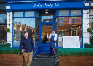 Max Gott (right) with his brother Ben outside their Jesmond restaurant