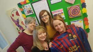 (from left) Acorns' Counsellors Helen Connor and Sharon Lewis, Children & Young People's Outreach Team members Kris Koth and Vicky Conroy.