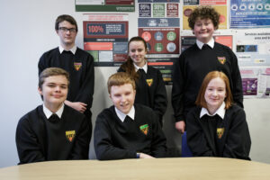 Members of Cramlington Learning Village's students' leadership team, who were interviewed for the award