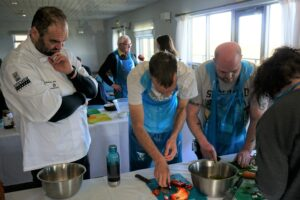 Matei Baran overseeing Kitchen Therapy participants
